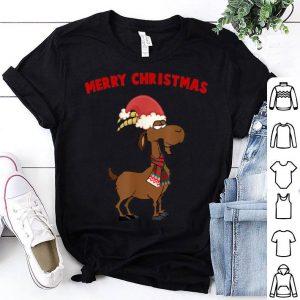 Pretty Merry Christmas Goat Lovers Farmer Santa Hat Xmas Gift sweater