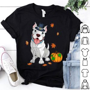 Pretty Pitbull Thanksgiving Costume Pilgrim Turkey shirt