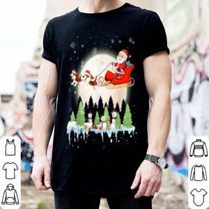 Pretty Santa Claus Riding Beagle Christmas Ugly Xmas shirt
