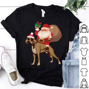 Pretty Santa Riding Boxer Christmas Pajama Gift shirt
