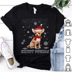 Top Merry Dogmas Chihuahua dog Snow Christmas Eve Xmas shirt