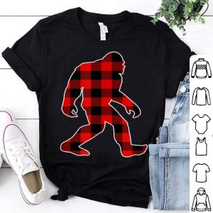 Top Plaid Bigfoot Christmas Family Matching Set shirt