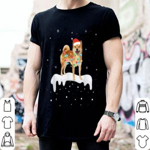 Top Shiba Inu Christmas Lights Cute Dog Lover Gifts shirt