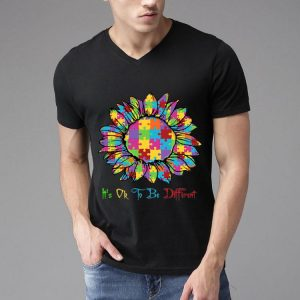 Autism Sunflower It's Ok To Be Different shirt