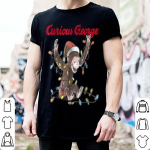 Awesome Curious George Christmas Lights Graphic sweater