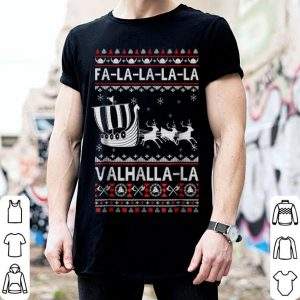 Awesome Fa La La Valhalla Viking Ship Ugly Christmas sweater