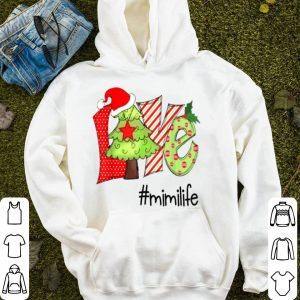 Awesome Love mimi life christmas Santa Claus Hat Christmas Tree sweater