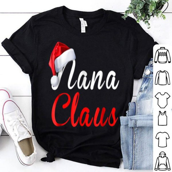 Awesome Nana Claus Christmas Santa Xmas Pajama Family Tee sweater