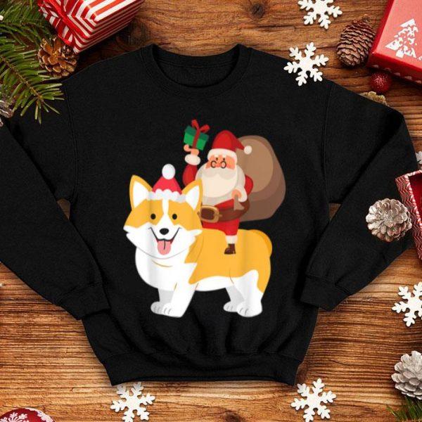 Beautiful Santa Riding Akita Inu Christmas Pajama Gift sweater