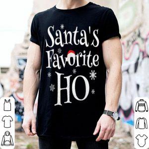 Beautiful Santa's Favorite Ho Funny Christmas Joke Womens Mens Gift sweater