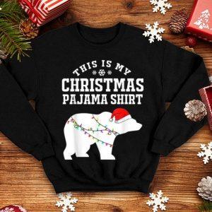 Beautiful This is My Christmas Pajama Polar Bear Funny Xmas Gift sweater