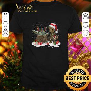 Cheap Baby Yoda reindeer and Baby Groot santa Christmas shirt