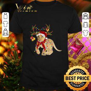 Cheap Santa Lion Reindeer Christmas Light shirt