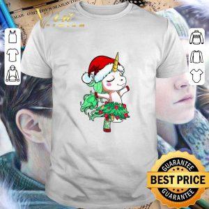 Cheap Santa Unicorn Christmas Tree Dance shirt
