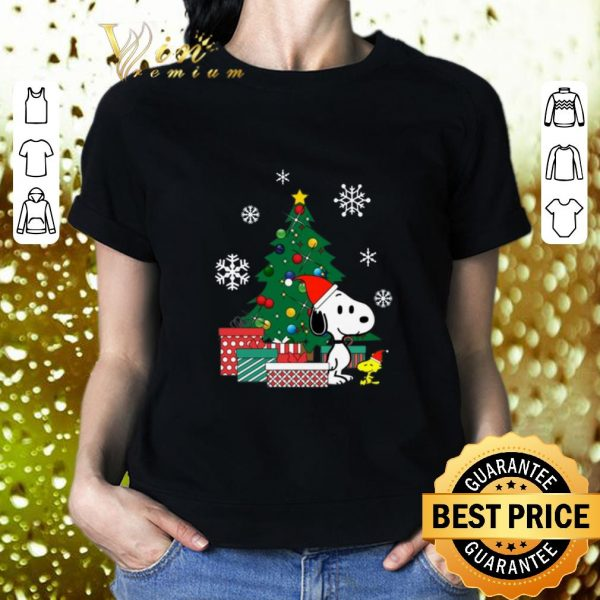 Cheap Snoopy and Woodstock Christmas tree shirt