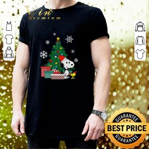 Cheap Snoopy and Woodstock Christmas tree shirt 2