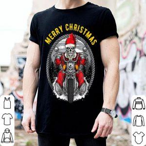 Christmas Motorcycle Santa Claus Biker Rider Skull sweater