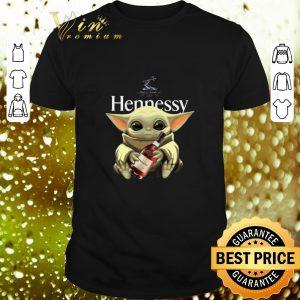 Funny Baby Yoda Hug Hennessy Star Wars Mandalorian shirt