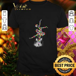 Funny Ballet Christmas light merry and bright shirt