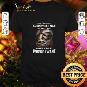 Funny Skull santa I'm a Grumpy old man i do what i want when i want shirt
