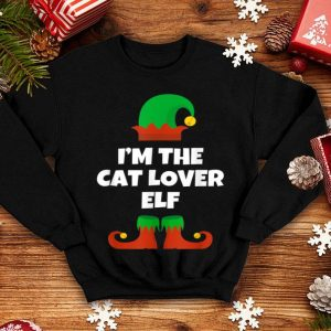 I'm The Cat Lover Elf Funny Family Christmas Gift sweater