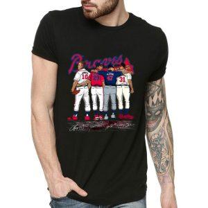MLB Atlanta Braves Jones Smoltz Glavine Maddux Signatures shirt