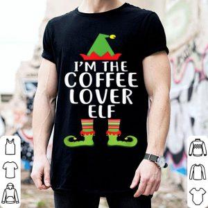 Nice I'm The Coffee Lover Elf Matching Family Christmas Tee sweater