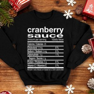 Official Cranberry Sauce Funny Christmas Food Nutrition Facts Gift sweater