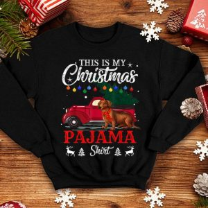 Official This Is My Christmas Pajama Dachshund sweater