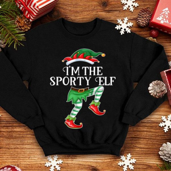 Original I'm the Sporty Elf Christmas Matching Family Group Gift sweater