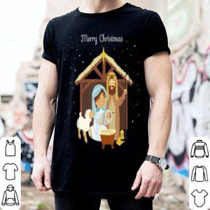 Original Merry Christmas & Nativity Scene Christian Faith Holiday sweater