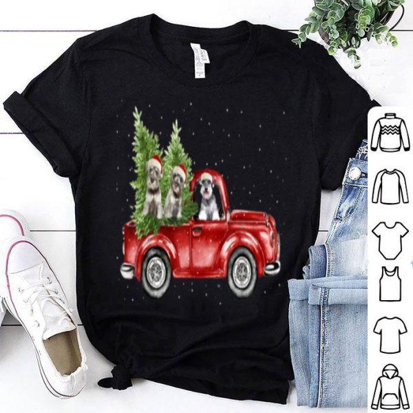 Original Schnauzer dogs Drvie Red Truck Christmas Pajama Xmas sweater