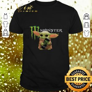 Premium Baby Yoda hold Monster Energy shirt