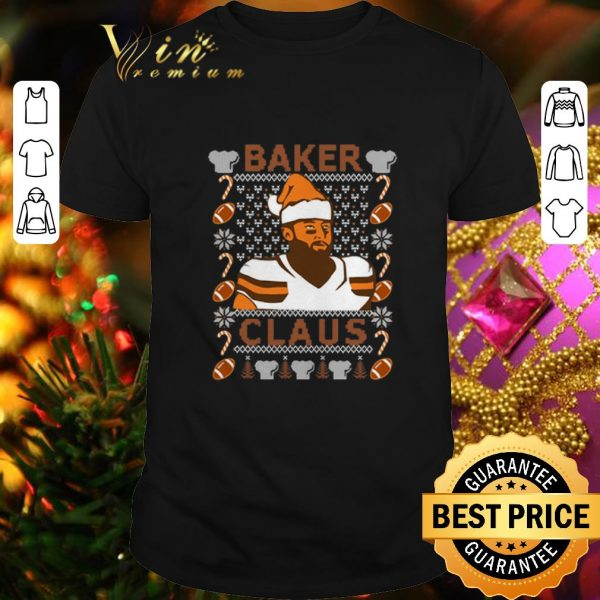 Premium Baker Mayfield Baker Claus Cleveland Brown ugly Christmas sweater