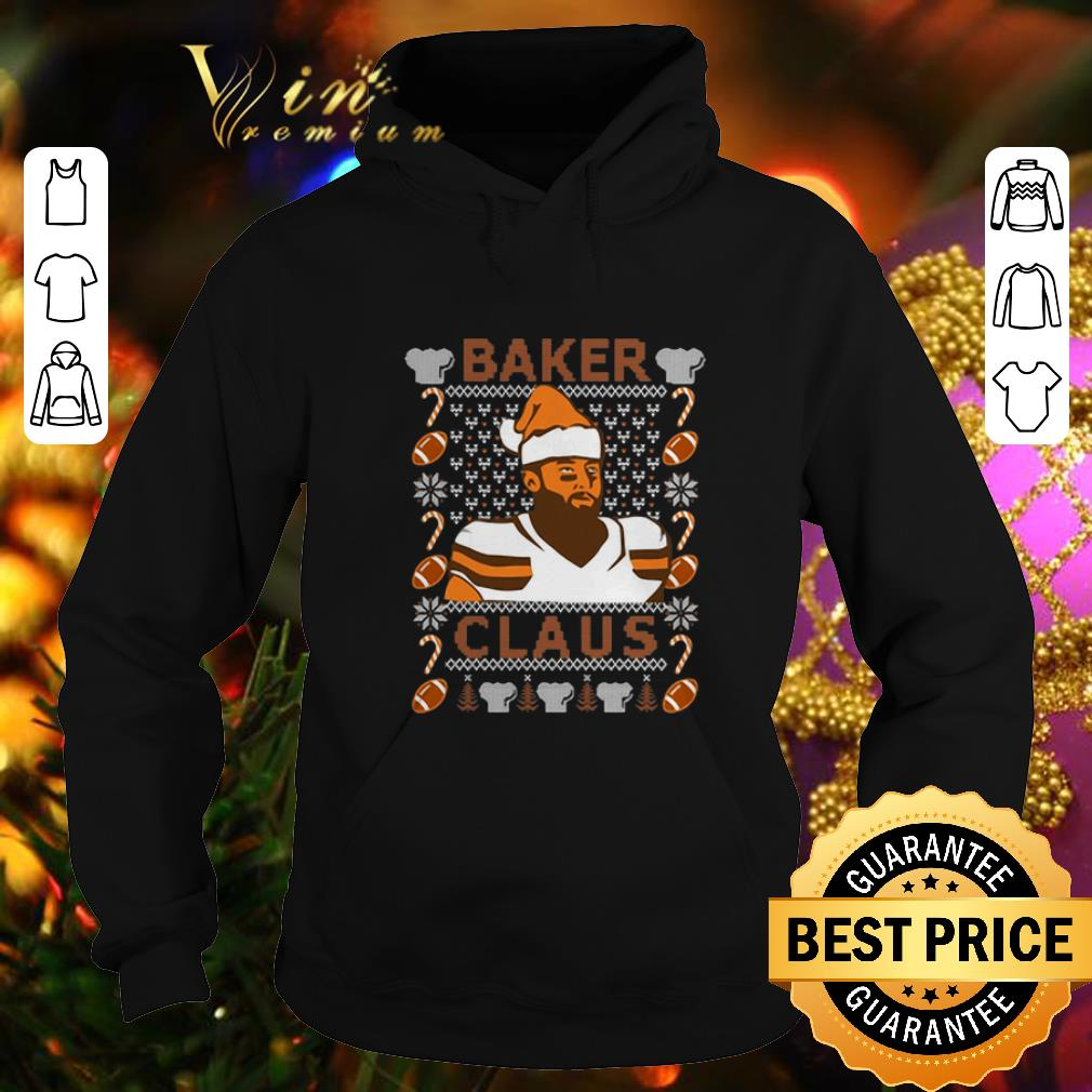 Premium Baker Mayfield Baker Claus Cleveland Brown ugly Christmas sweater 4 - Premium Baker Mayfield Baker Claus Cleveland Brown ugly Christmas sweater