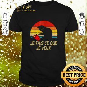 Premium Black Cat Je Fais Ce Que Je Veux Vintage shirt