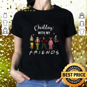 Premium Chillin' with my Friends Grinch Elf Home Alone Characters shirt