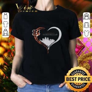 Premium Diamond Love Cincinnati Bengals Heart City shirt
