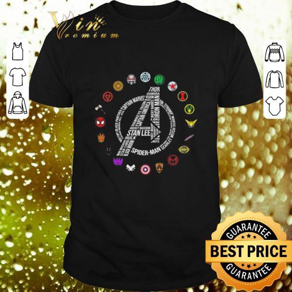 Premium Marvel Avengers Endgame symbol all character shirt