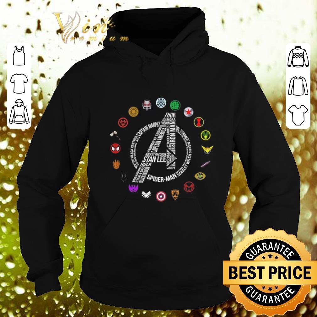 Premium Marvel Avengers Endgame symbol all character shirt 4 - Premium Marvel Avengers Endgame symbol all character shirt