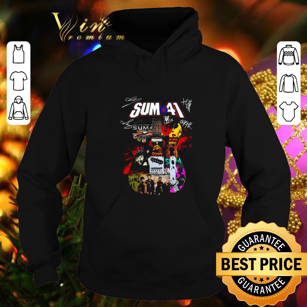 Premium Sum 41 Guitarist all signature shirt 4 - Premium Sum 41 Guitarist all signature shirt