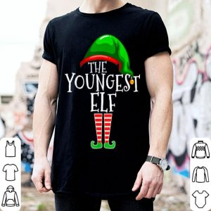 Premium The Youngest Elf Family Matching Group Christmas Gift Funny sweater