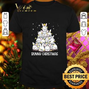 Pretty Bunny Rabbit Christmas tree shirt