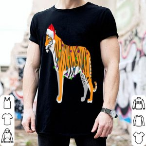 Pretty Funny Tiger Christmas Lights Decorations Santa Xmas Gifts sweater