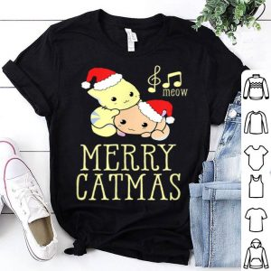 Pretty Merry Catmas Cute Kitten With Santa Hat Christmas Xmas Gift sweater