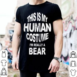Pretty This Is My Human Costume Tee Christmas Bear Pajama sweater