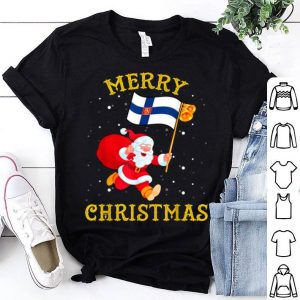 Santa Finland Merry Christmas Xmas sweater