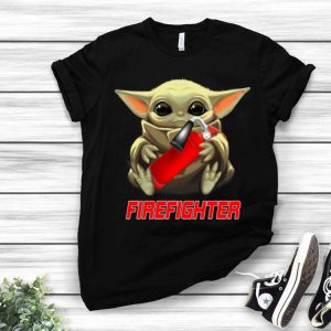 Star Wars Baby Yoda Hug Firefighter shirt