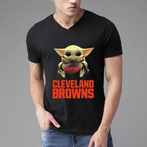 Star Wars Football Baby Yoda Hug Cleveland Browns shirt