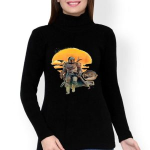 Star Wars The Mandalorian The Child Baby Yoda Sunset shirt